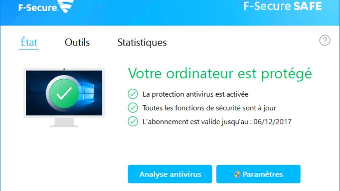 Interface F-secure : est-elle simple à utiliser ?