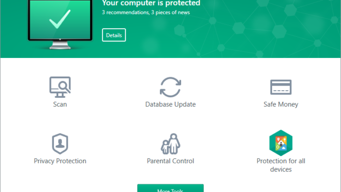 Test de l'interface de Kaspersky ?
